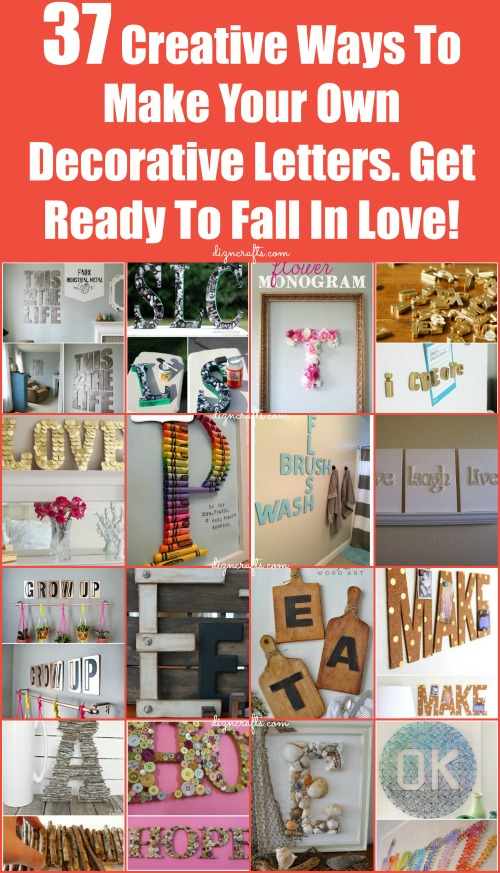 Decorating with Letters and Words: 37 Striking Tutorials Show You How to Make Your Own...