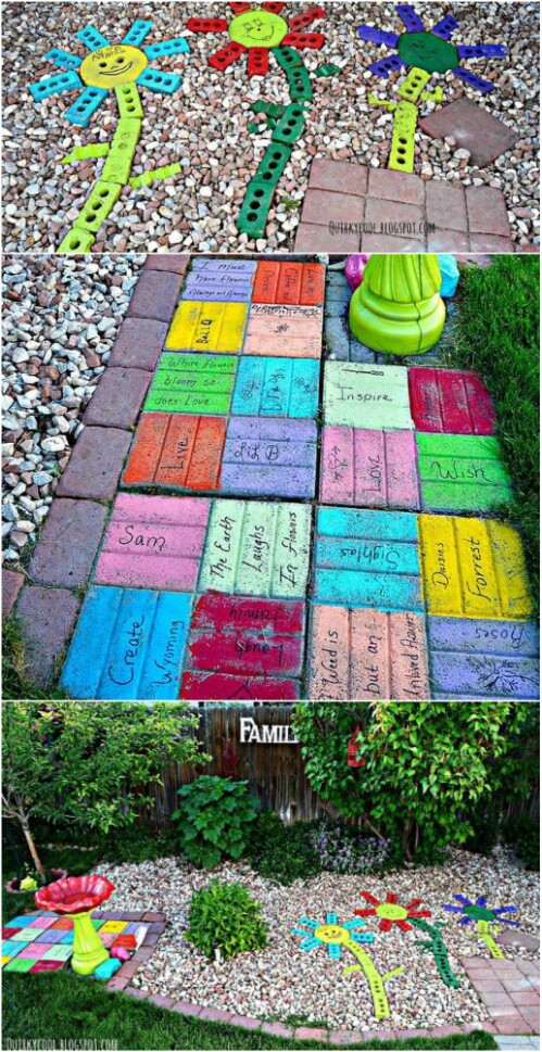 7. Make Colorful Yard Art
