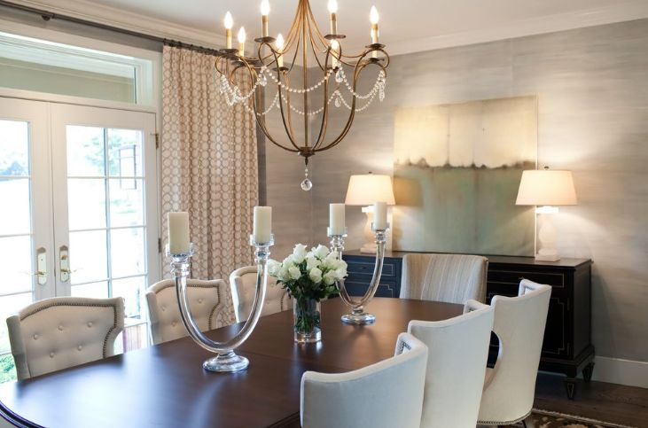 Measure the table for chandelier