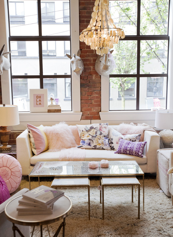 Textural and feminine living