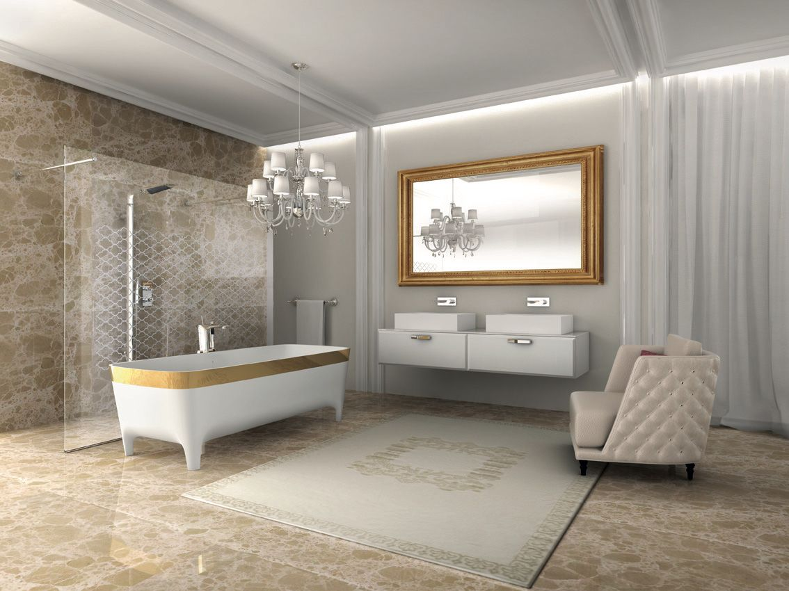 Teuco Accademia Limited Edition Oro collection bathtub, made from Duralight®.