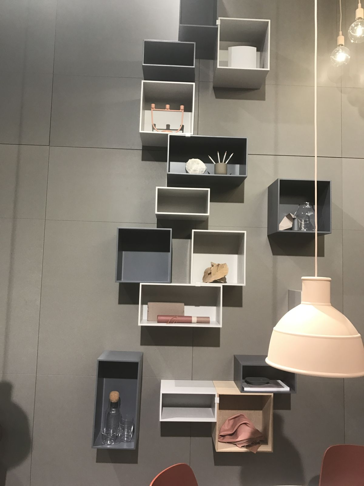 Box shelves are like puzzle pieces. They can be mixed and matched to create all sorts of cool installations