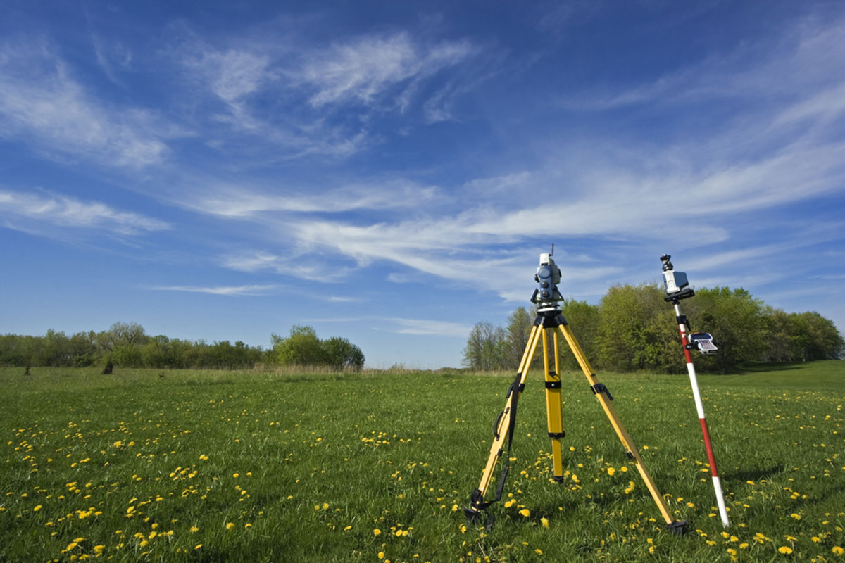Topographic Land Survey of Acres In Field