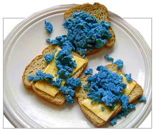 No appetite: toast and blue
