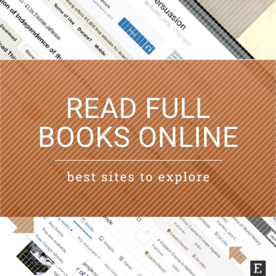Read full books online - the best sites