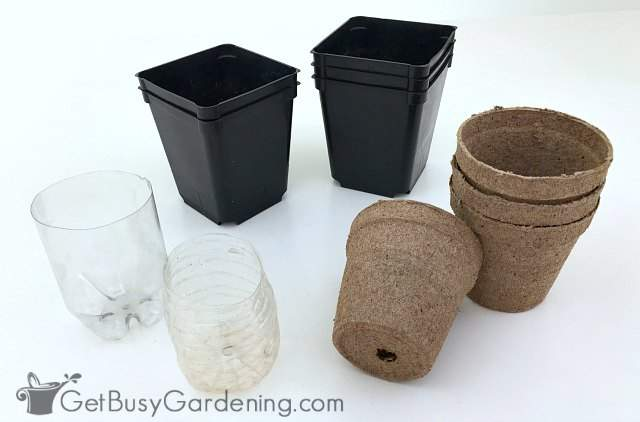 Types of seedling containers