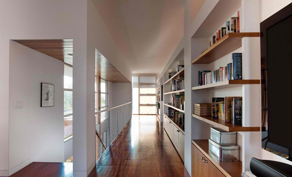 open bookshelves