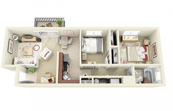 Two Bedroom Apartment Plans