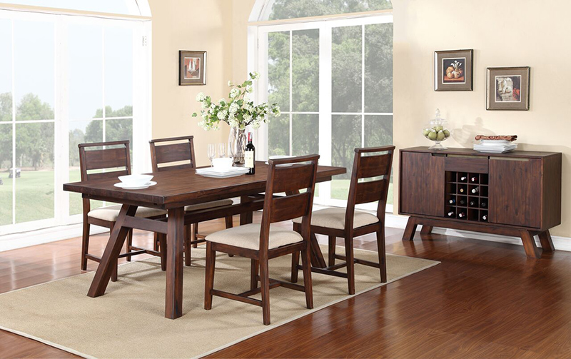 5 Piece Portland Solid Wood Dining Set