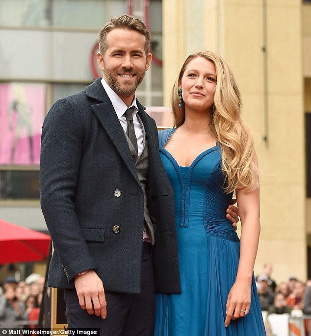 Marital perk: Ryan Reynolds revealed his life-long battle with anxiety has been eased thanks to the loving support of his second wife, Blake Lively (pictured December 15)