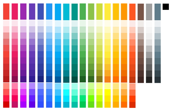 material design colours