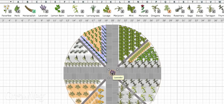 Design your herb garden in our Garden Planner