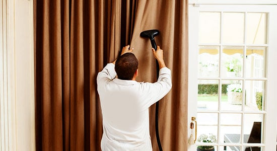 8. Spray your curtains:
