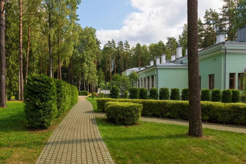 Dacha of Joseph Stalin in Valdai. On a summer day stock photo