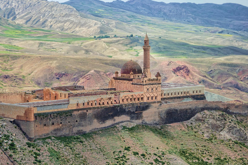 Ishak Pasha Ottoman Sultan Palace in Turkey. Ishak Pasha Ottoman Sultan Palace on slopes of Mount Ararat in Turkey stock photo
