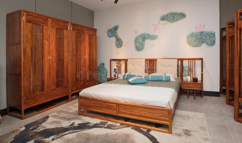 Modern Chinese mahogany furniture royalty free stock photo