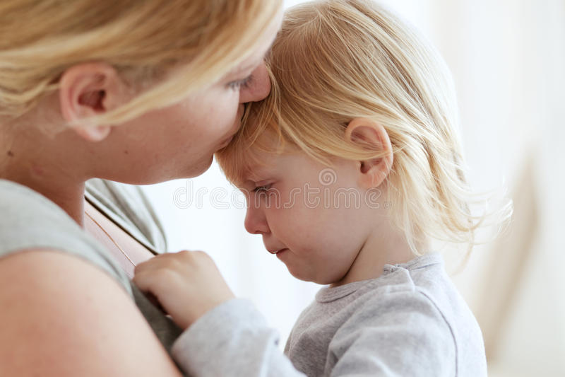Mother with her child. Portrait of a mother with her 2 years old child stock photography
