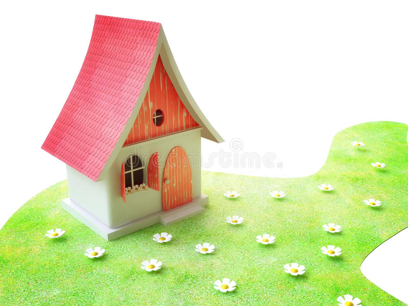 Small Cottage In Summer stock illustration