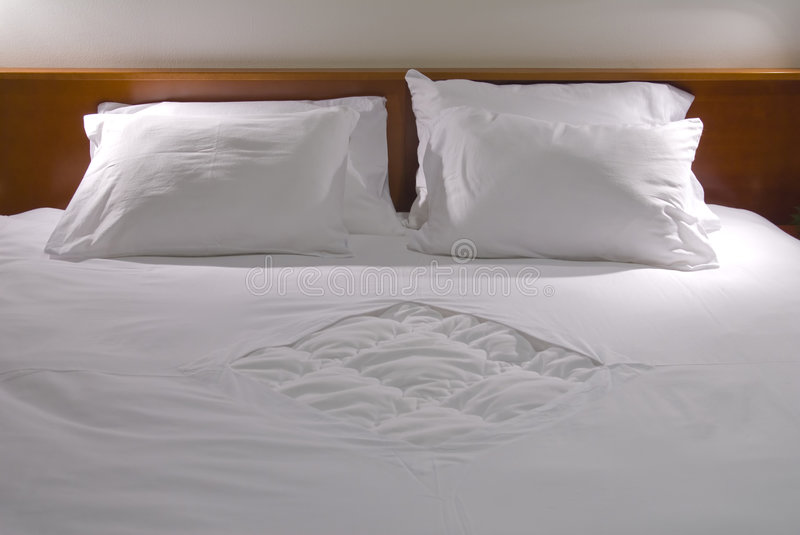 White pillows stock images