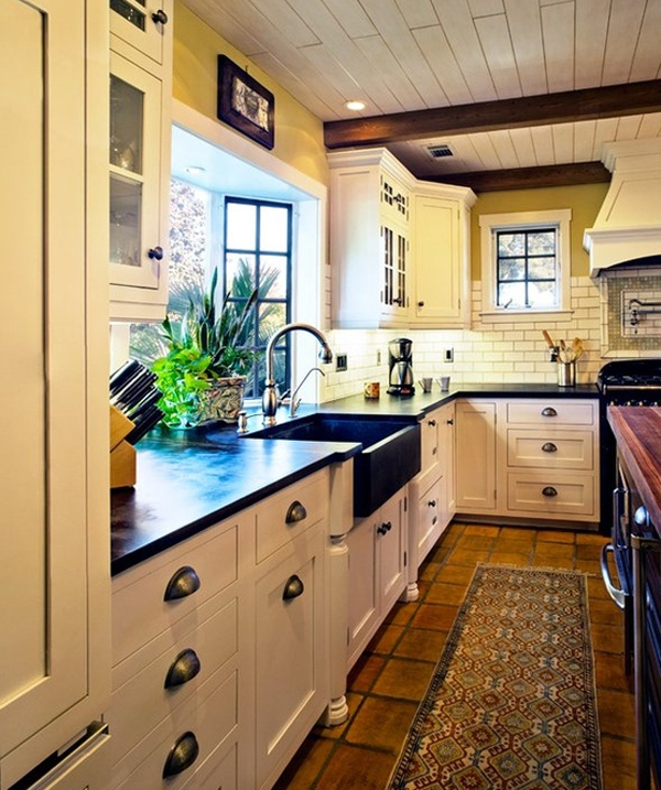 how to arrange furniture in the kitchen
