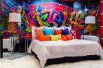 Граффити на стену в комнате: Граффити на стенах в квартире (в комнатах)
