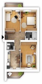 Переделка двухкомнатной квартиры в трехкомнатную: Перепланировка двухкомнатной квартиры в трехкомнатную и не только, примеры и проекты для хрущевки и других, идеи с примерами и фото