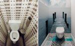 Туалет узкий дизайн: Дизайн маленького туалета, где только унитаз: интерьер маленького раздельного санузла в современном стиле в светлых, серых тонах