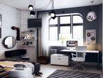 Комната в черно белом стиле для подростка фото: Черно белая детская комната — фото идеи стильного дизайна