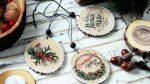 Рисунок спил дерева: Мастер-класс смотреть онлайн: Создаем новогодний декор своими руками! Выжигаем и расписываем деревянные спилы