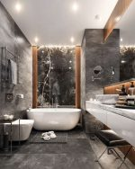Стильные современные ванные комнаты: фото, стили, цвета, идеи интерьеров