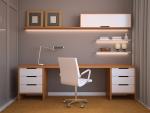 Полки над столом компьютерным фото: Полки над письменным столом: интресные варианты и конструкции